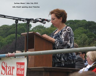 Miners'Gala 2010: Adla speaking on Gala platform | by Durham Palestinian Solidarity Campaign