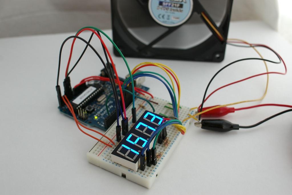 7 Segment Led Fan Revoltion Display W Arduino Direct Driv