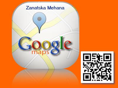 Google Mapa Zanatska Mehana Sa Qr Code Primena Qr Code Za Flickr