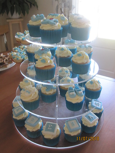 Christening Cup Cake Toppers