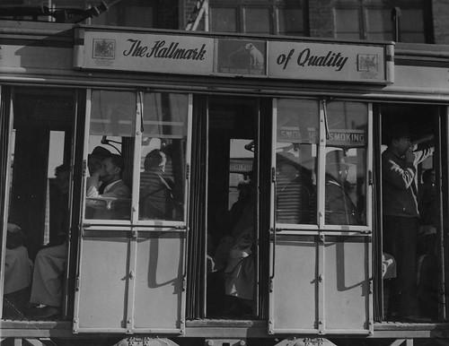 hmv Tram advert 1940s/50s