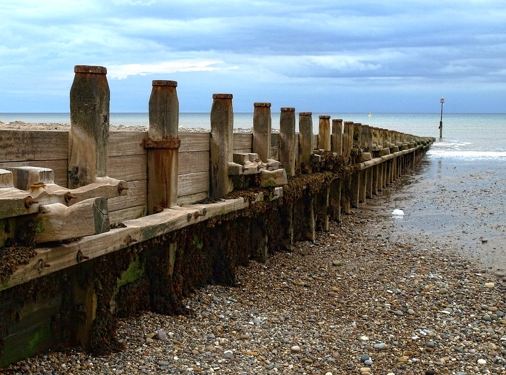 Sea Defences Groynes On Hornsea S South Beach P7313532 E