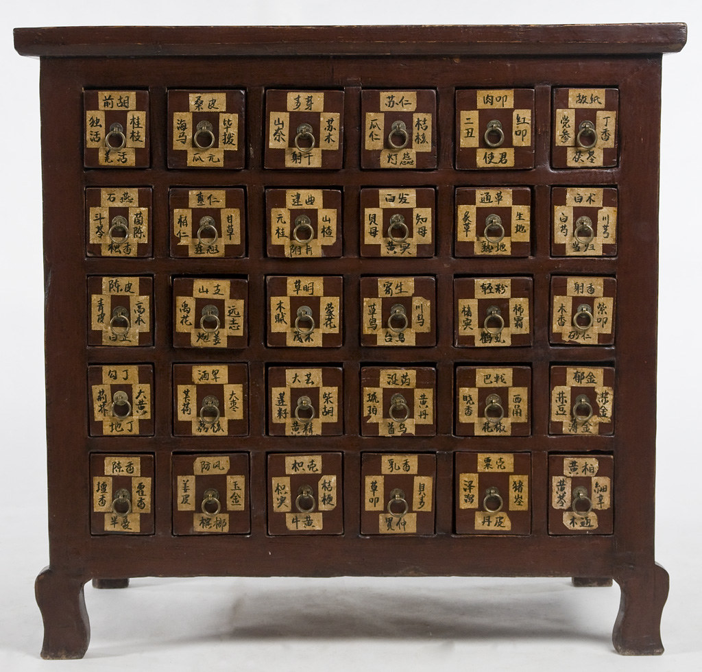 Beau ... Li1003y Antique Chinese Medicine Cabinet | By Silk Road Collection