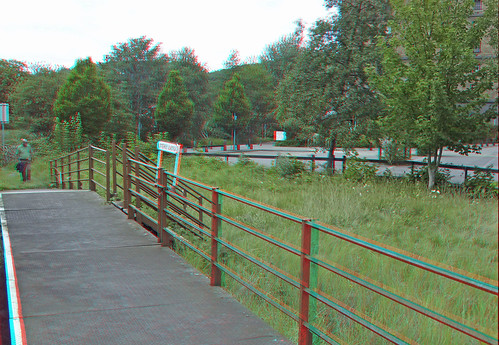 Bristol Harbour Butterfly Junction in anaglyph 3D stereo red cyan glasses to view | by 3dstereopics