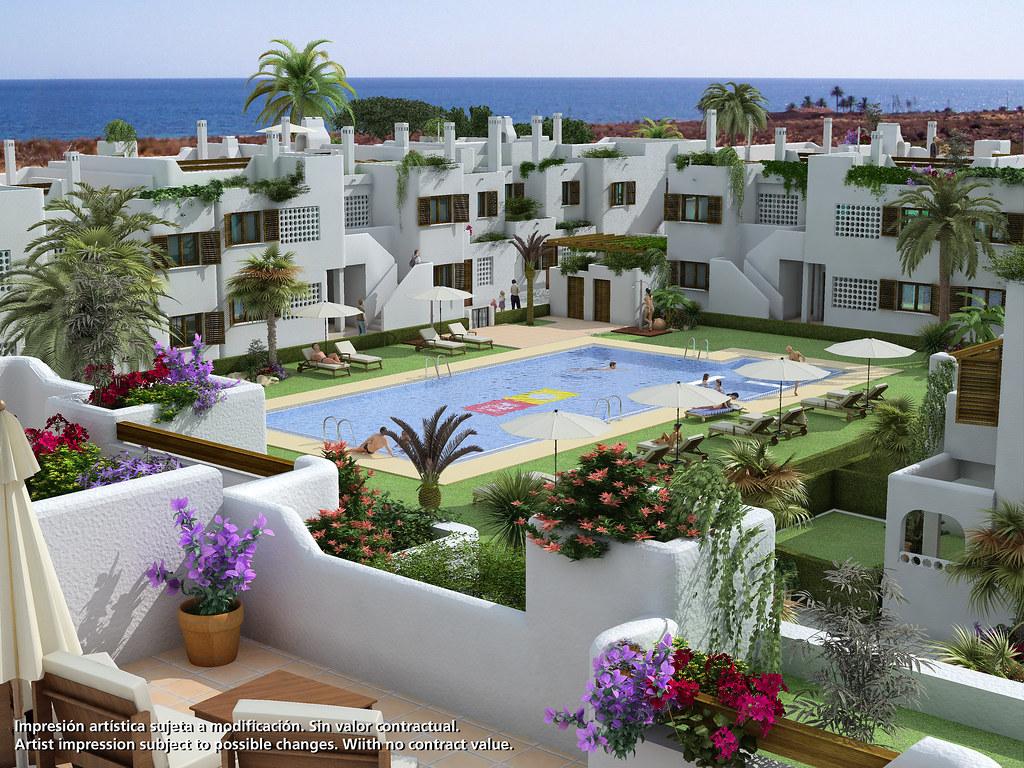 Obra nueva en almer a costa apartamentos en playa de alme flickr - Apartamentos almeria ...
