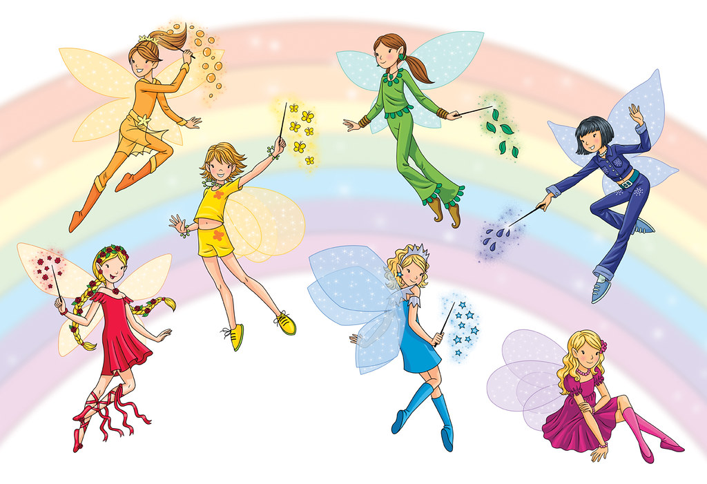 the rainbow fairies the rainbow fairies represent the colo flickr. Black Bedroom Furniture Sets. Home Design Ideas