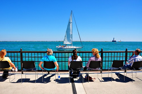 Watching the Nautical Parade, Navy Pier | by Jim Watkins Photography