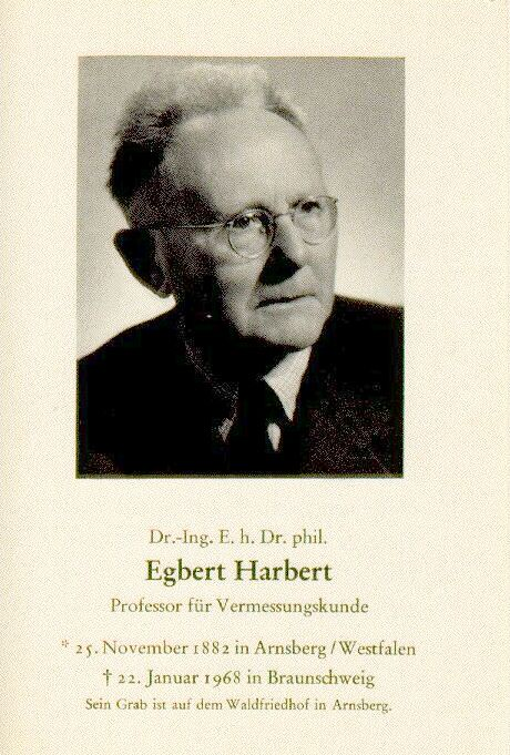 Totenzettel Harbert, Egbert † 22.01.1968