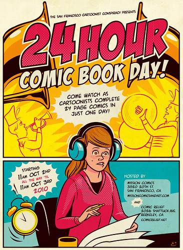 24 Hour Comic Book Day Flyer art | by Josh Ellingson