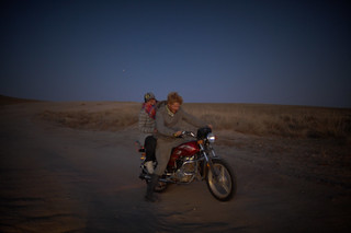 Mette & Charlie on Mongolian Motorbike | by goingslowly