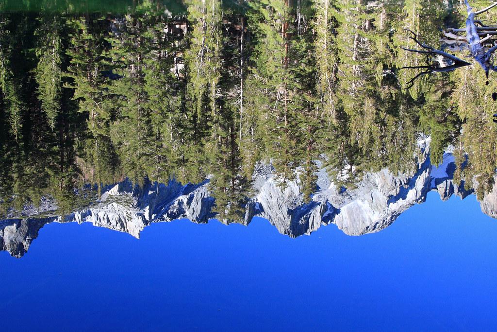 reflection on emerald lake near mammoth lakes ca flickr