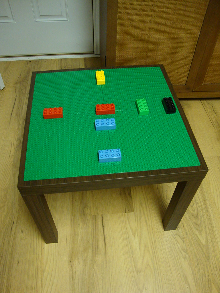 Ikea lack table becomes lego table for preschooler flickr for Table design lego