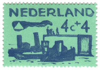 Netherlands postage stamp: sea green | by karen horton