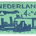 Netherlands postage stamp: sea green