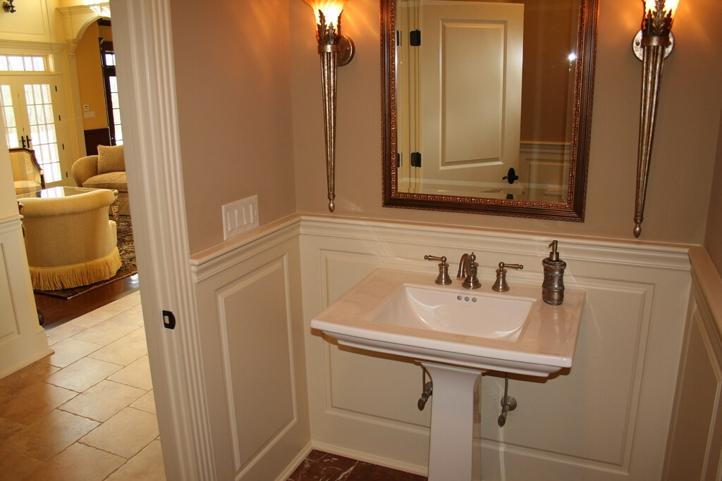 white wainscoting bathroom wainscoting america raised panel 1 2 bathroom 15165