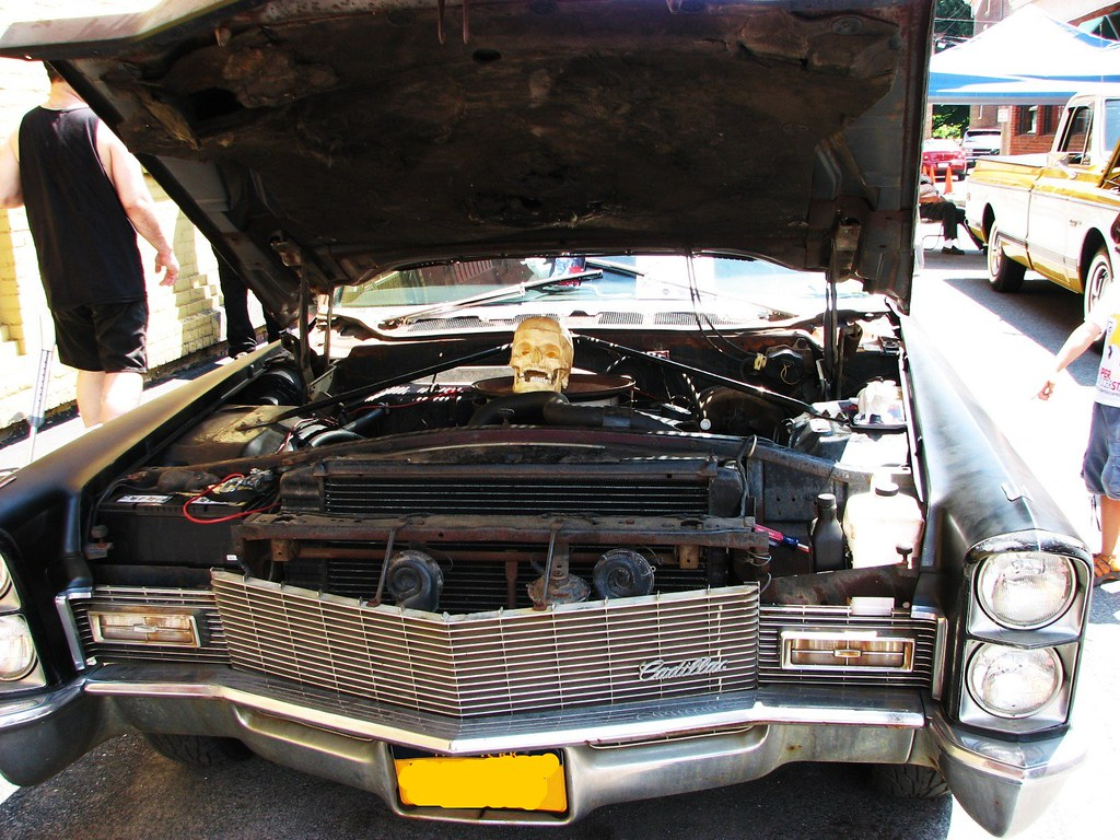 A 1968 Cadillac Hearse In July 2010 At The 2010 Sawyer