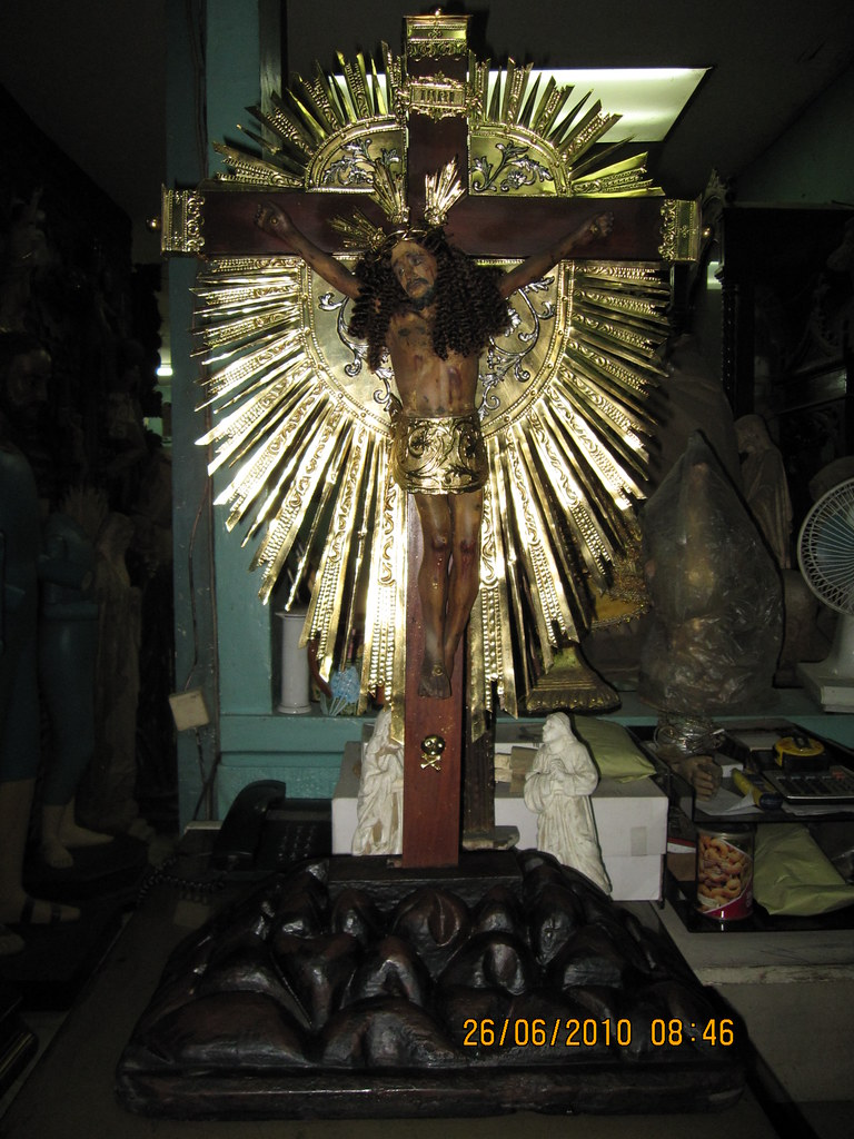 ... Antique Tabletop Crucifix | By Leo Cloma