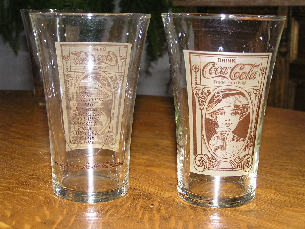 coca cola re creation turn of the century flair glasses flickr. Black Bedroom Furniture Sets. Home Design Ideas