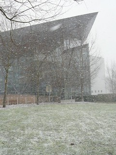 Heavy snow shower at HQ | by Met Office