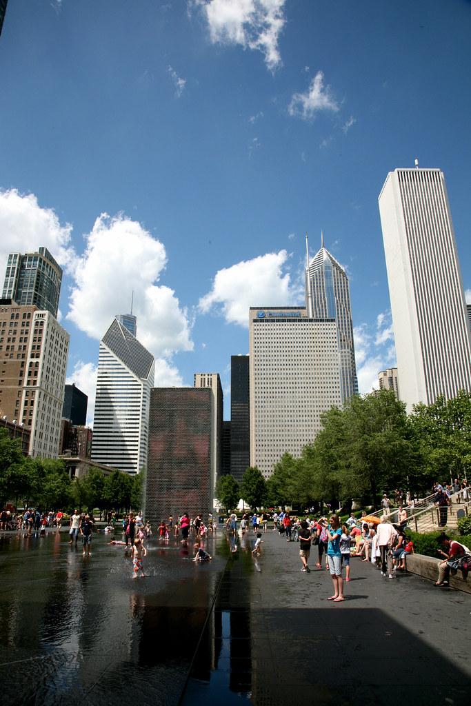 Chicago Ill Millennium Park Crown Fountain Jaume Plens Flickr