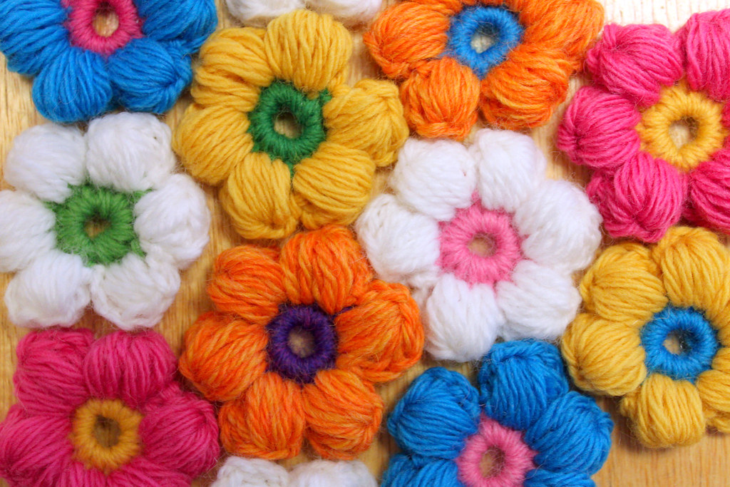 Crochet Flower Puff Pattern : Puff Stitch Flower Crochet Pattern Pattern Blogged ...