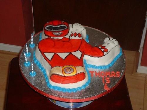 Power Ranger Birthday Cake Birthday Cake In The Shape Of