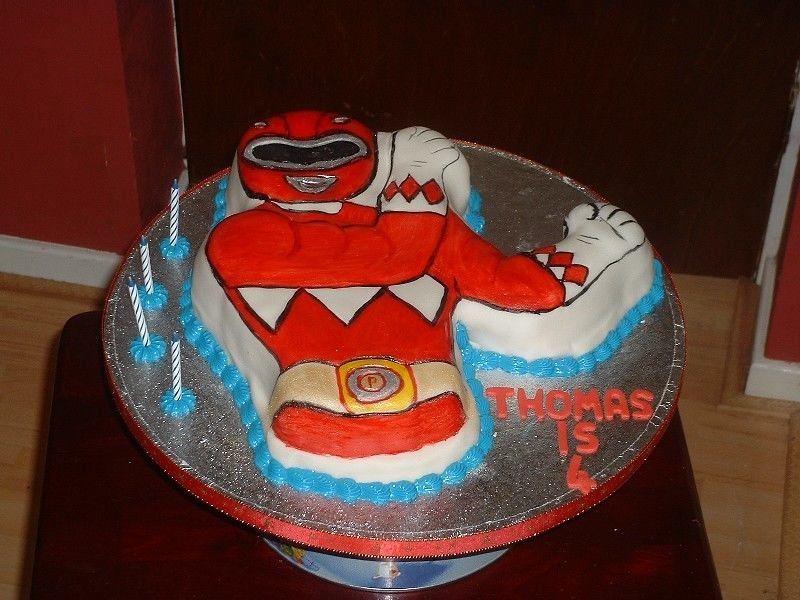 Power Ranger Birthday Cake Birthday Cake In The Shape Of T Flickr