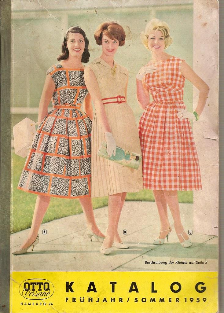1959 otto katalog titel mode sommerkleider mit g rtel flickr