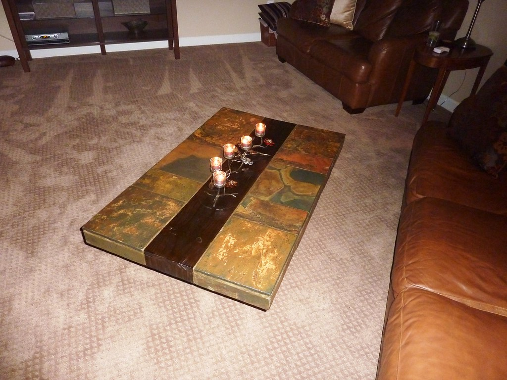 African Slate And Hardwood Coffee Table Paul And Emily