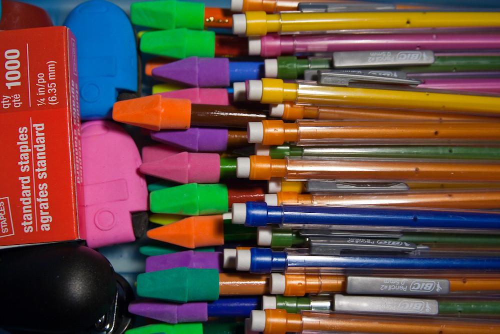 Modern Classroom Supplies ~ School supplies pencils erasers august