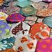 Hexagon quilt close up