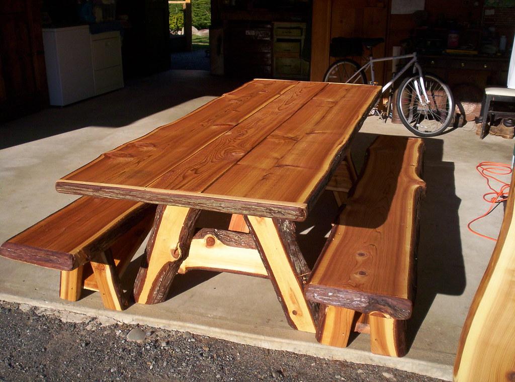 Live Edge Cedar Picnic Table Sold Link Lindborg Flickr