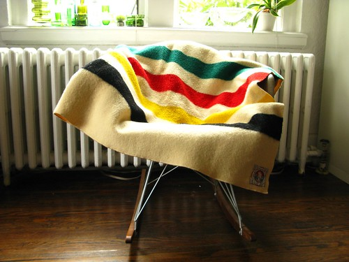 Sold - Pendleton Mills vintage HBC-style wool blanket | by moon angel