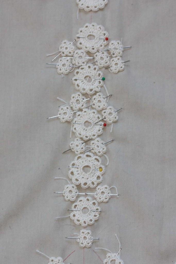 Irish Crochet Wedding Dress Progress Wedding Dress Progres Flickr