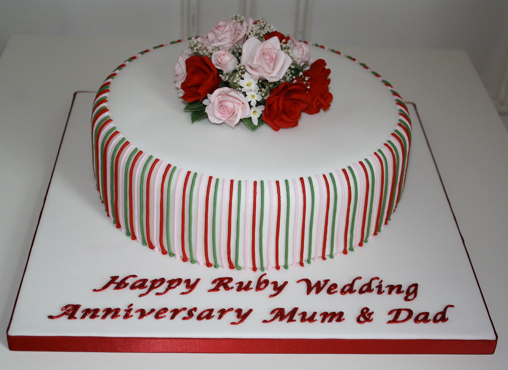 ruby wedding cake pictures ruby wedding cake this was my attempt at a sugar 19449