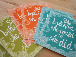 She believed set of 6 flat cards | by valentinadesign