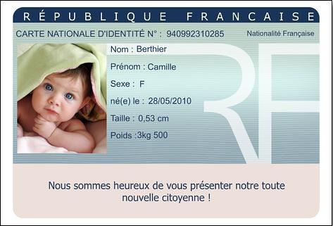 Faire Part Naissance Carte Identité Faire Part Naissance Carte