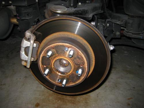 honda accord rear brake rotor caliper pads 2009 lx se flickr. Black Bedroom Furniture Sets. Home Design Ideas
