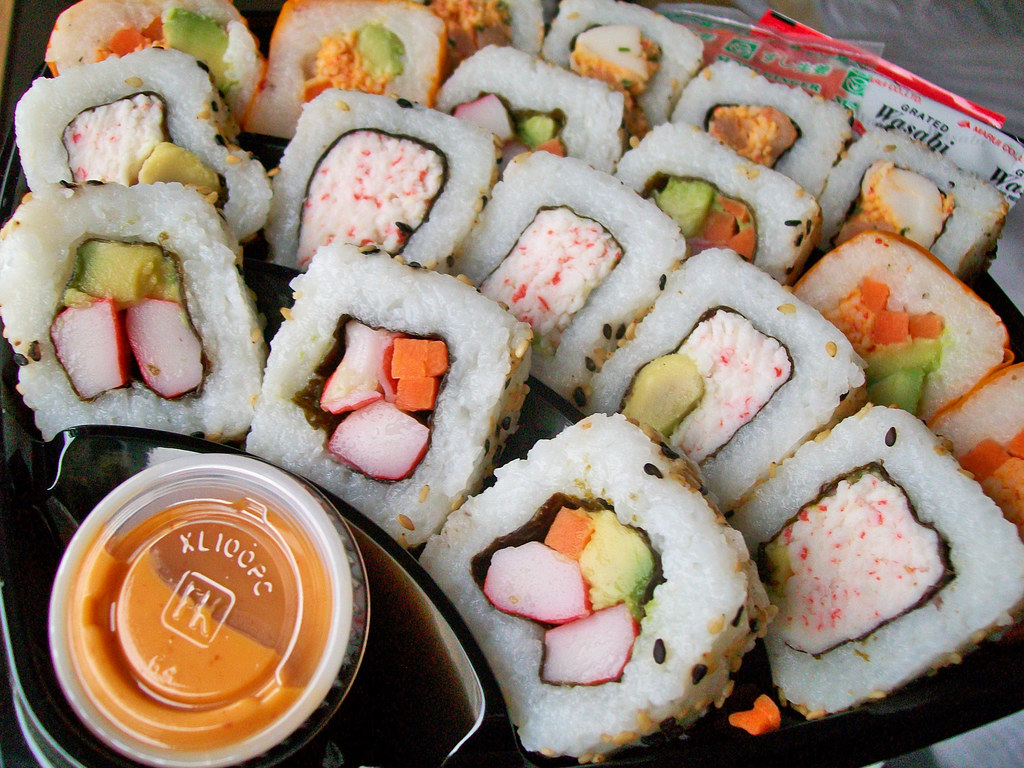 Sushi this was sushi from costco it came with 3 types for Adaro sushi pan asian cuisine