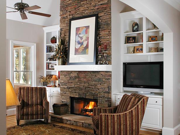 built ins offset fireplace   momtojack   Flickr
