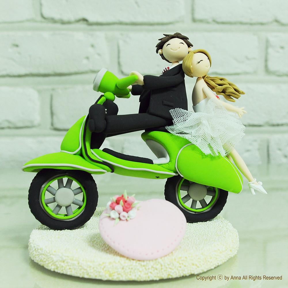Vespa Wedding Cake Topper