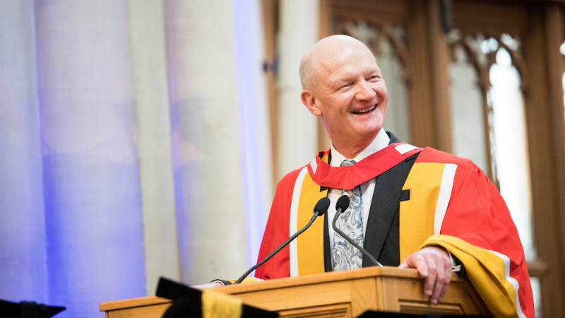 Lord David Willetts receiving his Honorary degree, Doctor of Laws, at our summer graduation ceremonies 2017.
