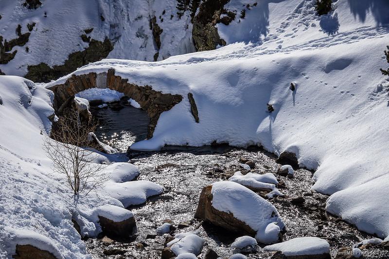 Río de Núria en invierno