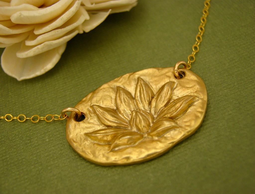 Enlighten up necklace sculpted lotus pendant on 14k gold flickr enlighten up necklace sculpted lotus pendant on 14k gold fill by india blue jewels mozeypictures Choice Image