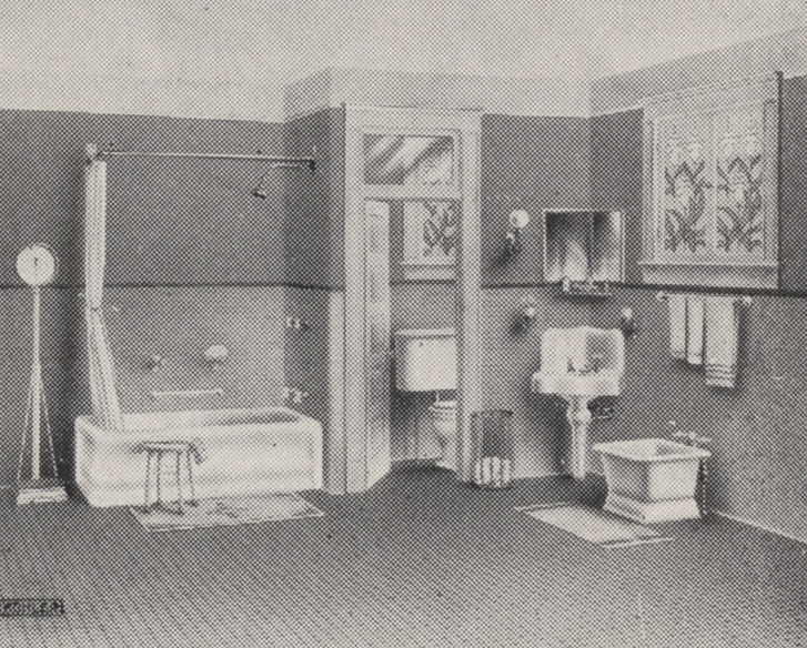 Typical Bathroom In 1918 This Bathroom Depicting A