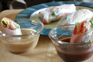 dipped summer rolls | by Madison Bistro