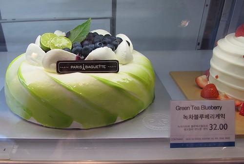 Green Tea Cake Paris Baguette