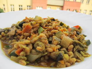 Rice and Veggie Pilaf | by veganbackpacker