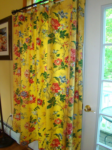 Drapery Curtain Yellow Floral Shower Curtain Flickr Photo Sharing