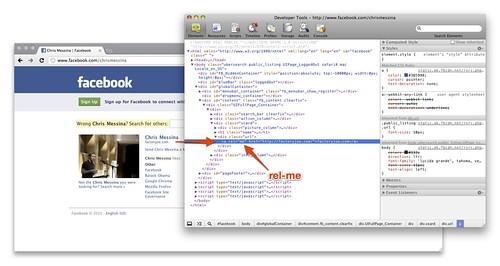 Facebook now supports rel-me! | by factoryjoe